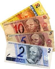 Reals brésilien, billet de banque Brésil.