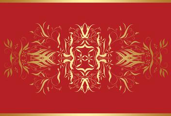 red golden  backround