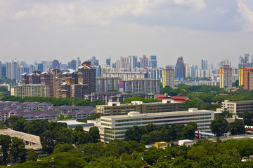 cityscape birdseye view