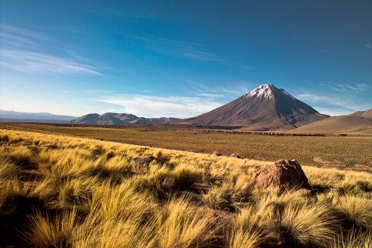 Licancabur volcano in the Atacama desert, Chile