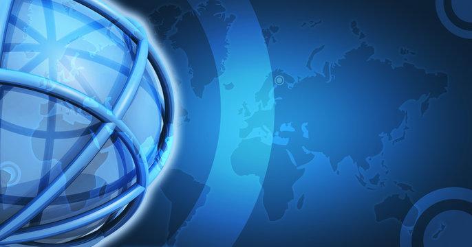 Fond vierge bleu spash 3D