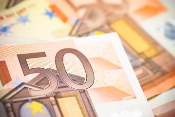 image d'un billet de cinquante euro - banque