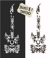 Tattoo Ibanez guitar