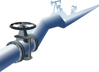 Pipe oil gas