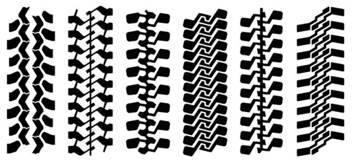 Track of mud-terrain tyres (can make any length)