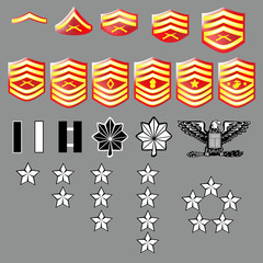 Marine Corps rank insignia for officers and enlisted - texture