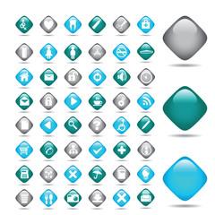 Vector icons set. Medicine