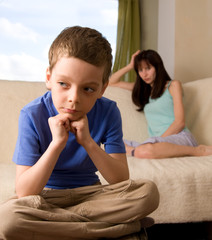 Conflict between mum and the son