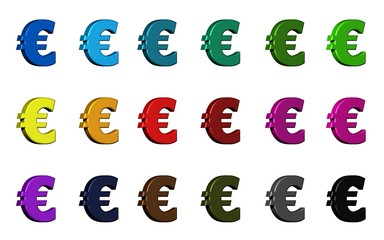 Euro symbol - Various Colors
