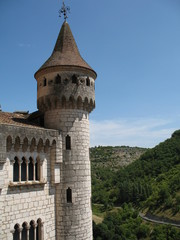 Castle tower in the hills