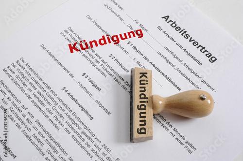 Kündigung Kündigen Arbeitsvertrag Arbeitsplatz Stockfotos Und