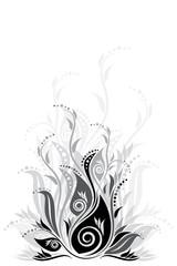 Vector floral background illustration