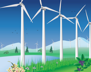Wind turbines and clean energy