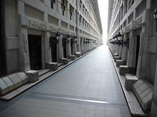 long ancient corridor