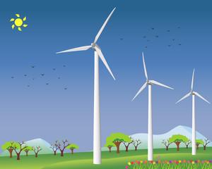 Wind mills generating clean energy