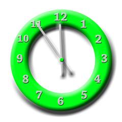 Zeit, Uhr, 5 Minuten vor Zwölf
