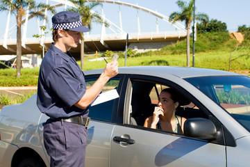 traffic cop at work