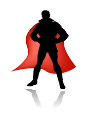 Photo sur cadre textile Super heros super hero silhouette vector