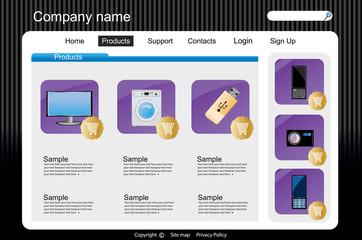 Web site interface v.21