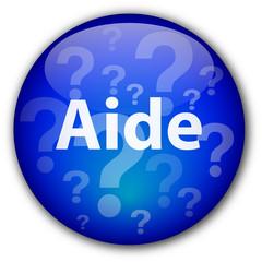 """Bouton """"Aide"""" (bleu)"""