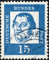 Deutsche Bundes Post. Luther. Timbre Postal.