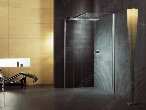 badezimmer dusche luxus bad stockfotos und lizenzfreie bilder auf bild 13290414. Black Bedroom Furniture Sets. Home Design Ideas