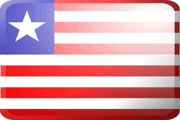 Flag of Liberia button