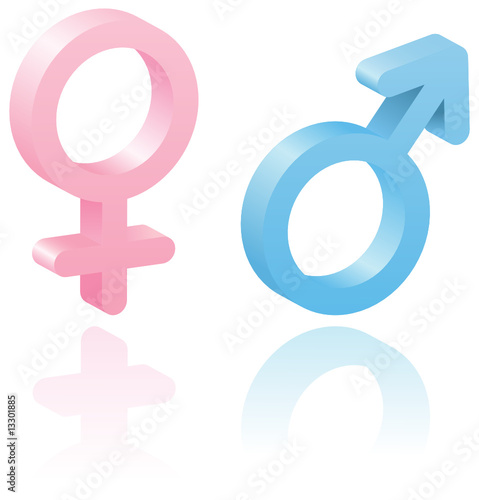 3d Male And Female Symbols Stock Image And Royalty Free Vector