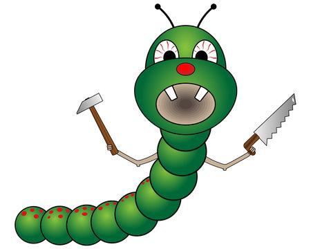 Bad cartoon worm