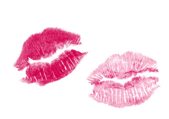 set of two vector lipstick kisses
