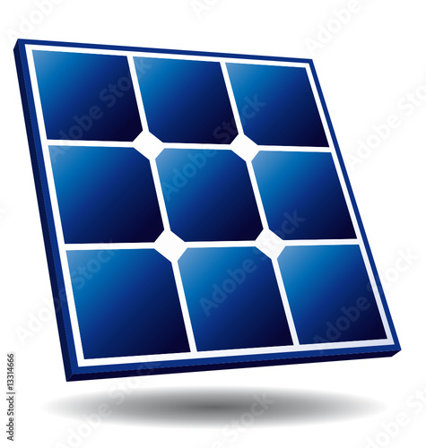 "First Energy Stock Quote: ""Solar Panel Free Energy Icon"" Stock Image And Royalty"