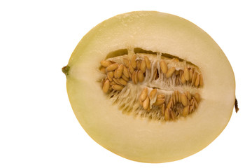Sliced Golden Lady Melon Isolated