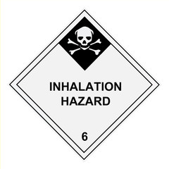 Inhalation Hazard Warning Label