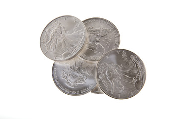 silver Walking Liberty coins from the United States