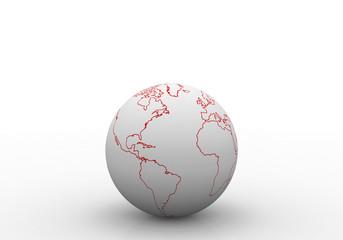 World outline map