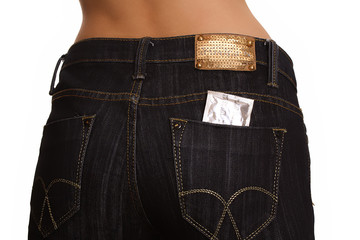 a condom in a jeans back pocket II