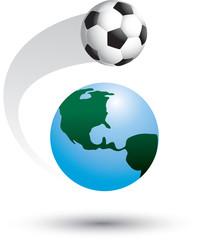 Soccer ball around the world