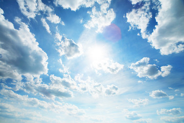 Wall Mural - Beautiful blue sky with white clouds