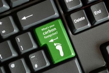 """What's your carbon footprint?"" key on keyboard"