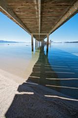Under the Pier at Lake Tahoe vacation resort