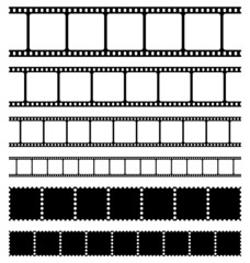 Strips film and stamps collection