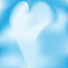 cielo con nuvola a forma di cuore