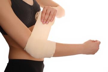 bandage on arm III