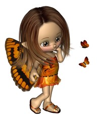 Toon Butterfly Fairy - Orange