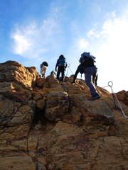 Tuinposter Alpinisme トレッキングイメージ