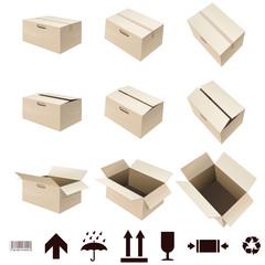 Boite en carton (détouré)