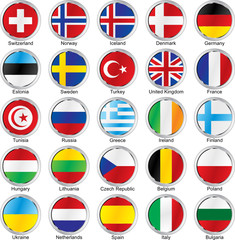isolated flags