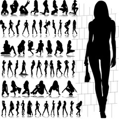 hot and sexy girl illustration