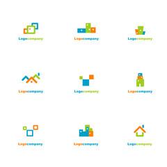 Set of company symbols