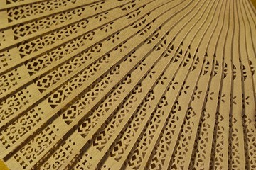 Wooden fan, close up